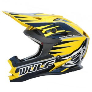 Kids-Yellow-Sports-Motocross-Crash-Helmet